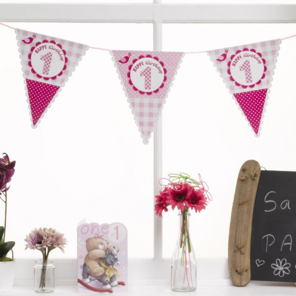 A Little Bird Told Me 1st Birthday Bunting